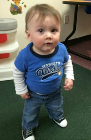 Police say Peighton Geraw, 15 months old, was killed by his mother, Nytosha Laforce, 28, of Winooski in April 2014. Courtesy photo
