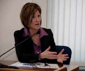 Green Mountain Power CEO Mary Powell. VTD/Josh Larkin