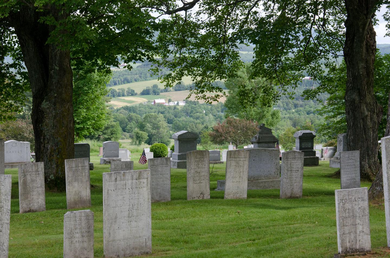 View from the Peacham Corner Cemetery. VTD/Josh Larkin