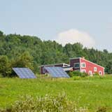 Solar panels in East Montpelier. VTD/Josh Larkin