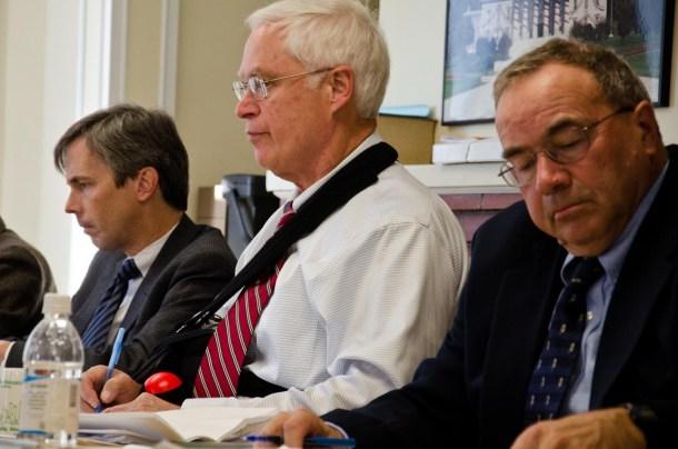 The Vermont Labor Relations Board, from left, Gary Karnedy, Chairman Richard Park and James Kiehle. VTD/Josh Larkin