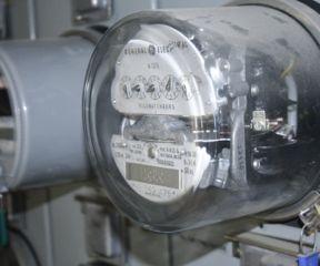 Electric meter. Photo by Alan Panebaker