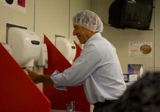 Lt. Gov. Phil Scott on a tour of IBM.