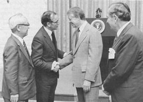 Jimmy Carter and David Rockefeller