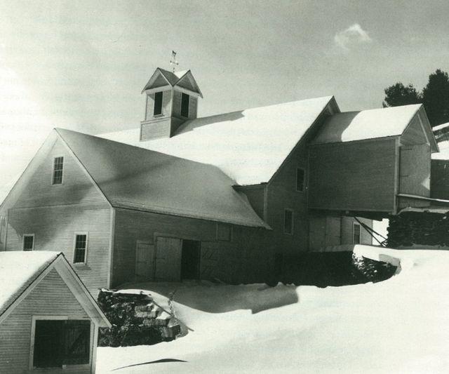Arthur Rothstein's photo is captioned: Arthur Rothstein Windsor County, Vt. February 1936. Barn of a dairy farmer.