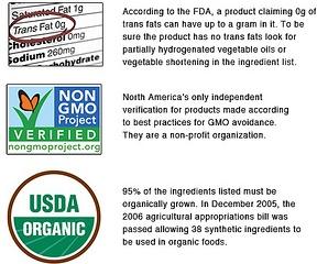 GMO label SLIDER