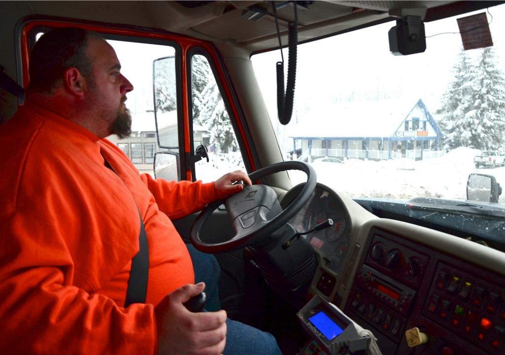 VTrans snowplow driver Mike Bride