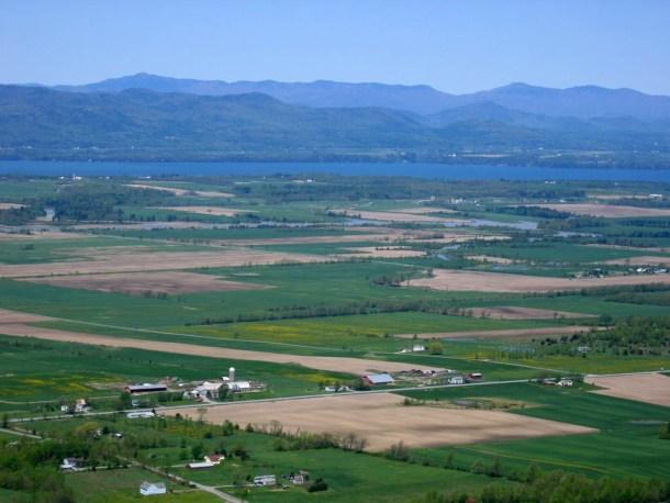 The Lake Champlain basin as seen from Mount Philo. Photo courtesy Lake Champlain Basin Program