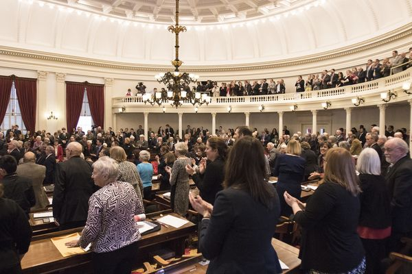 Statehouse, 2016 budget address