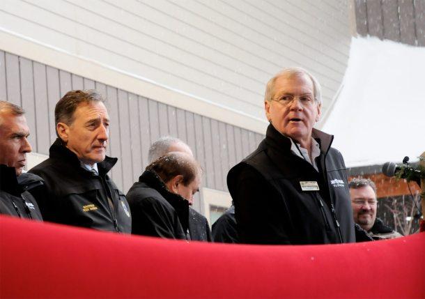 Ariel Quiros, Peter Shumlin, Bill Stenger photo by VTDigger