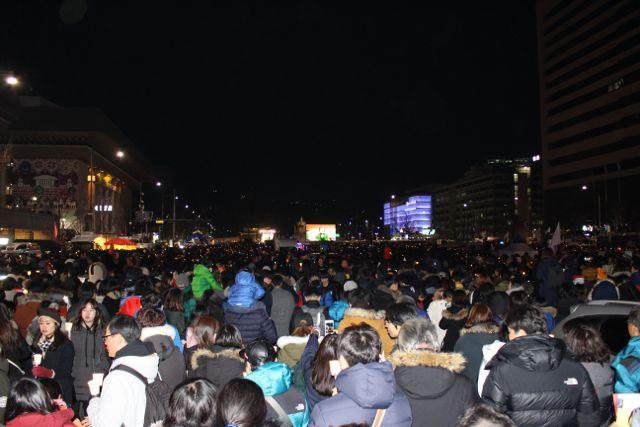 Park demonstration, South Korea