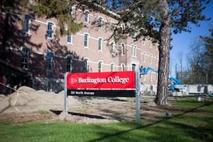 Burlington College sign