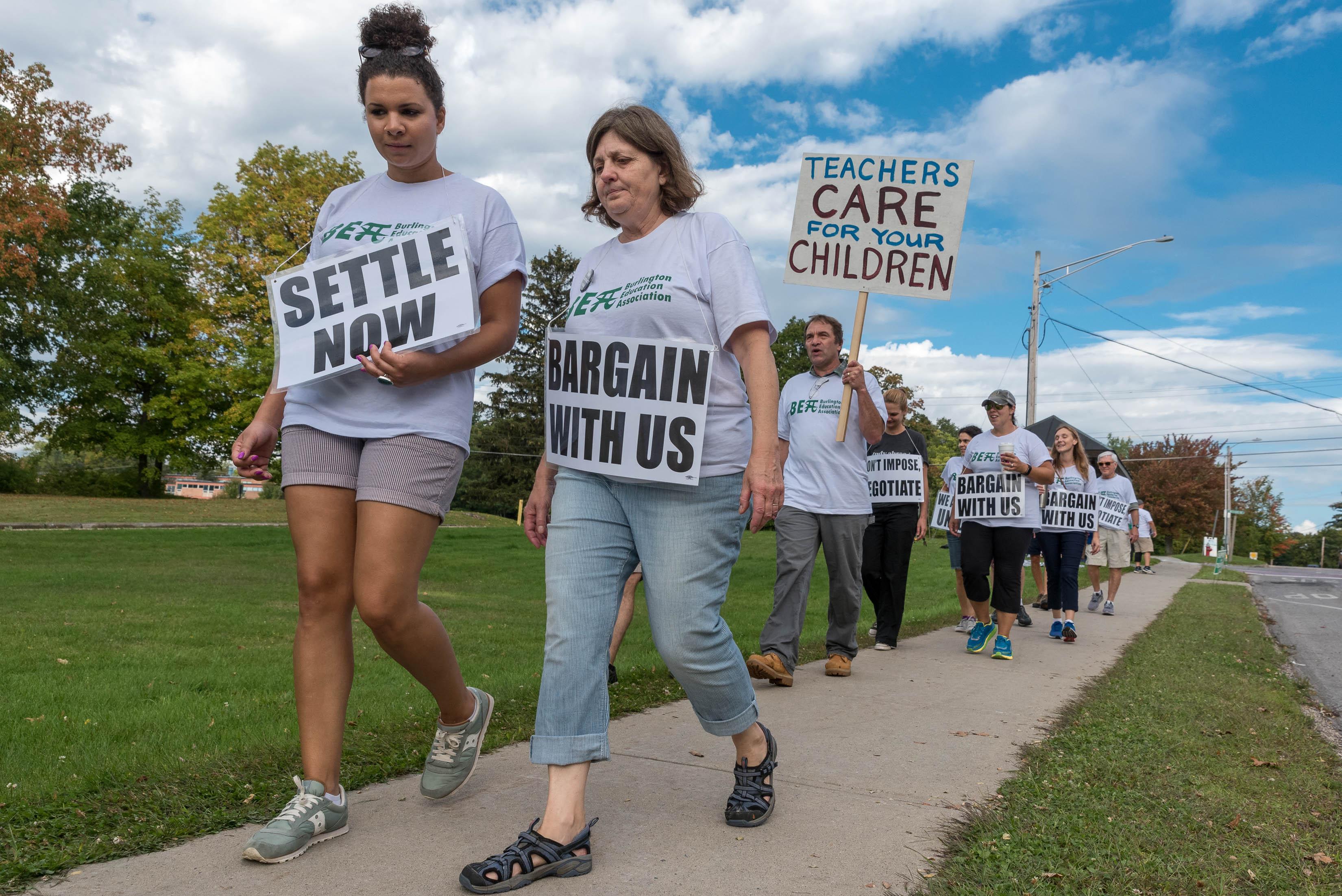 Burlington Teachers Strike