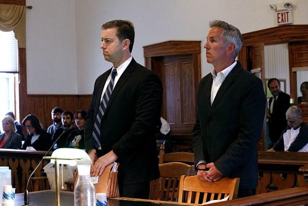 David Barnett and attorney in court
