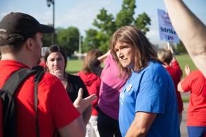 Christine Hallquist at UVM nurses strike
