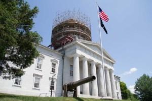 Vermont Statehouse under construction