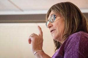 Christine Hallquist speaking