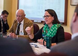 Natural Resources Secretary Julie Moore testifies.
