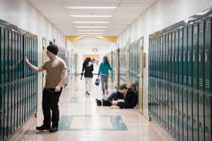 Montpelier High School hallway