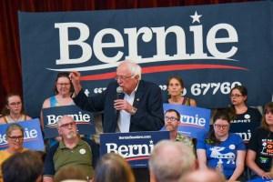 Bernie Sanders onstage