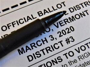 2020 Town Meeting ballot