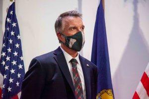 Phil Scott wearing mask