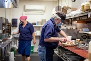 Cooks in Wayside kitchen