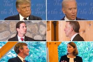 Donald Trump, Joe Biden, David Zuckerman, Phil Scott, Scott Milne, Molly Gray
