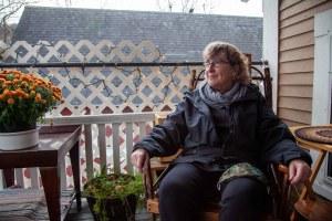 Kathy Warren on porch