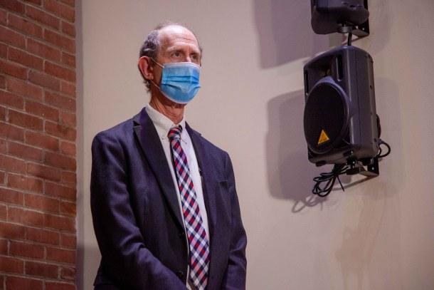 Mark Levine wearing mask