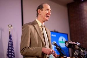 Mark Levine at podium