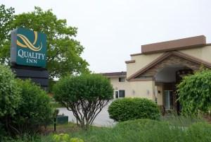 The Quality Inn motel in Rutland.